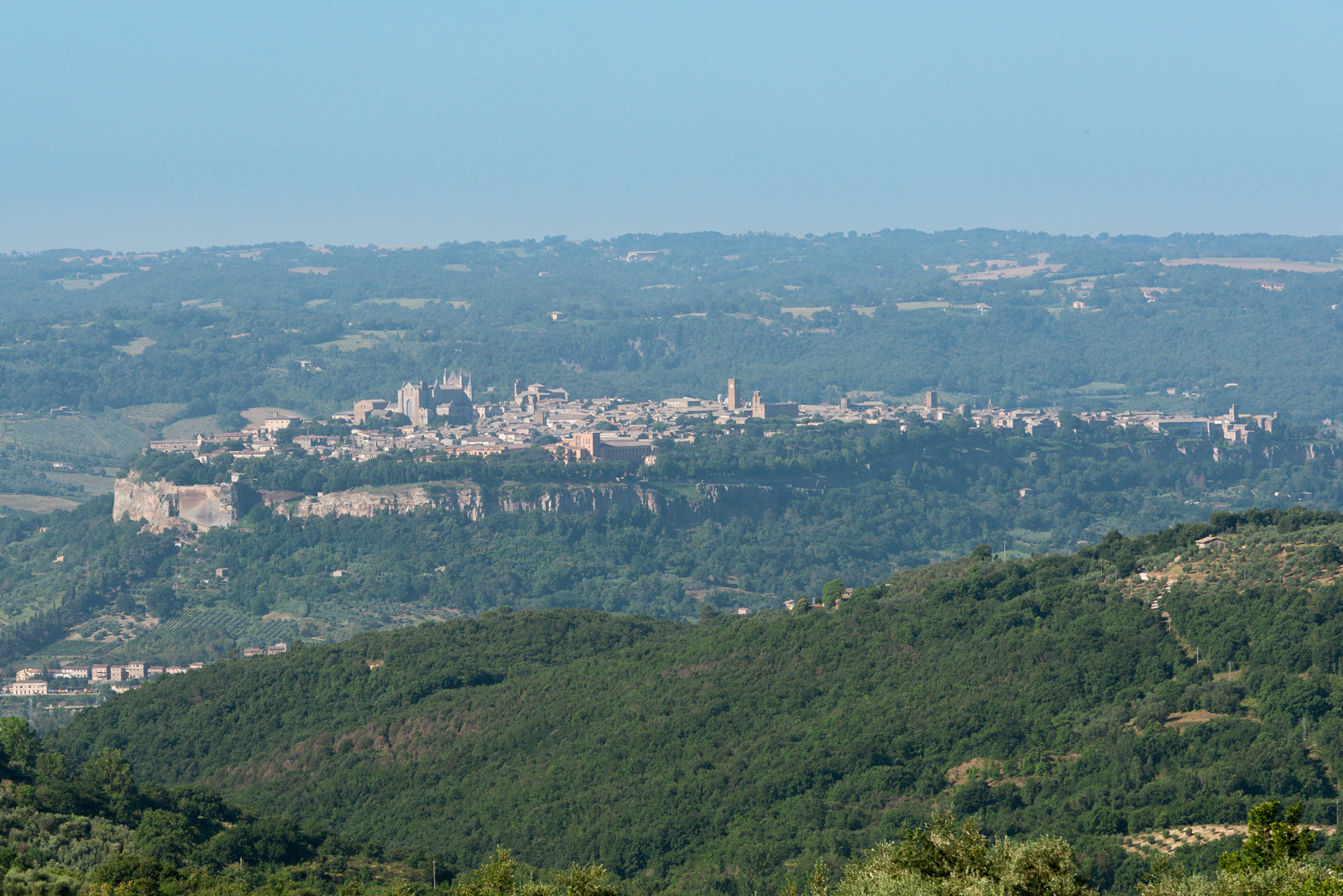 Orvieto landscape from the Agriturismo