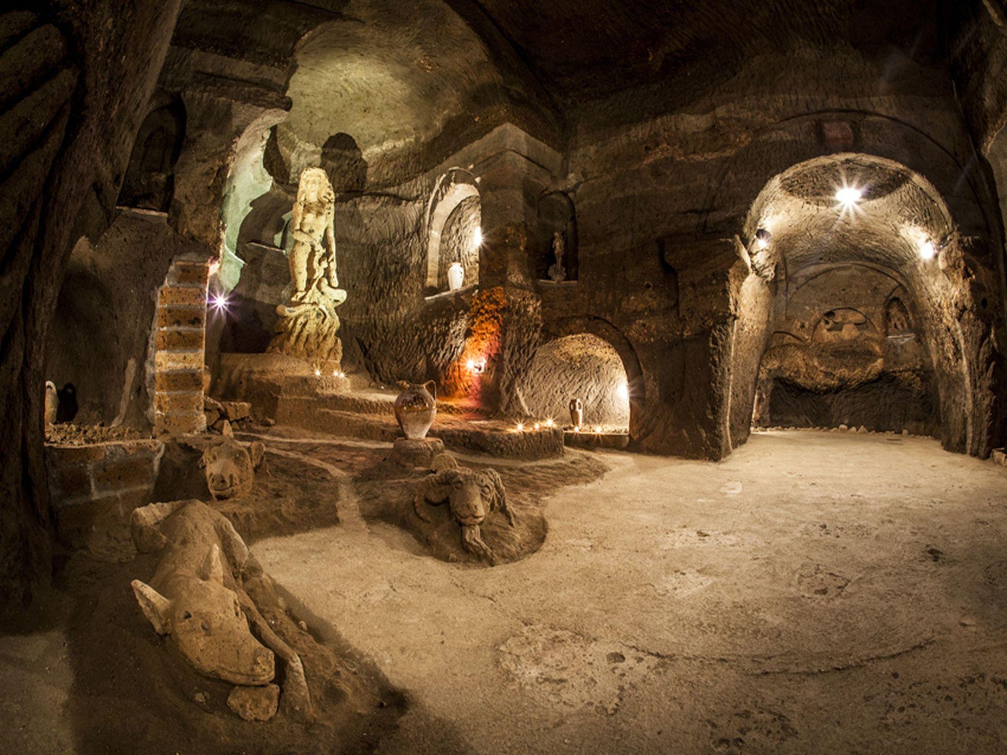 Etruscan caves Orvieto